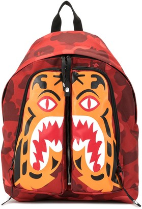 A Bathing Ape Camouflage Tiger Backpack