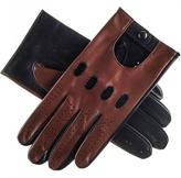 Black Brown and Leather Driving Gloves