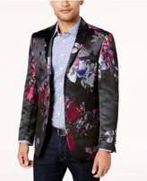 Tallia Orange Men's Big & Tall Slim-Fit Black/Blue/Red Floral Dinner Jacket