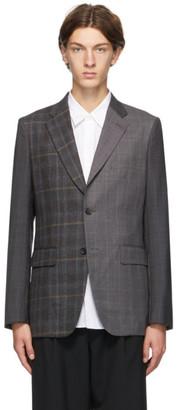 Comme des Garçons Homme Deux Multicolor Wool Check Blazer