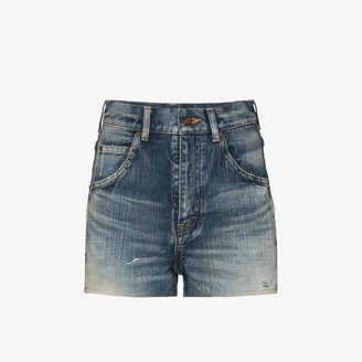 Saint Laurent Vintage Wash Denim Shorts