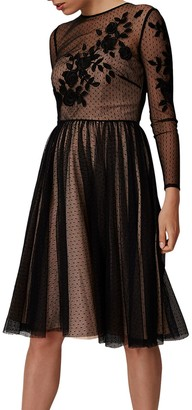 Phase Eight Collection 8 Nishi Tulle Dress, Black/Nude