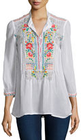 Johnny Was Mandala Embroidered Tunic, Plus Size