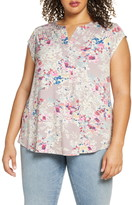 Daniel Rainn Smocked Shoulder Top