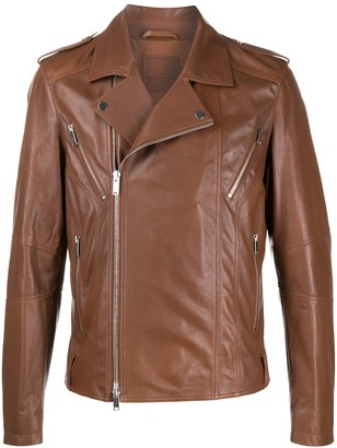 Desa 1972 Regular-Fit Zip-Up Biker Jacket
