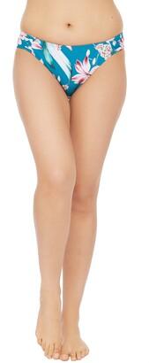 La Blanca Flyaway Orchid Side Ruched Hipster Bikini Bottoms