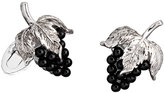 Jan Leslie Garnet Grape Cuff Links, Silver/Black