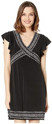 MICHAEL Michael Kors Snake Mini Dress (Black) Women's Dress