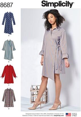 Simplicity Misses' Shirt Dress Leaflet, 8687