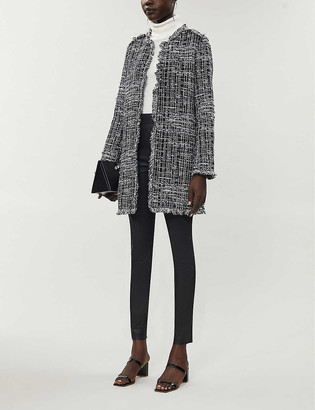 Pinko Bon Bon cotton-blend tweed coat