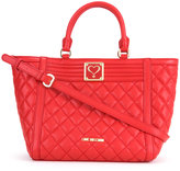 Love Moschino quilted trapeze tote - women - Polyurethane - One Size