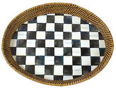 Mackenzie Childs MacKenzie-Childs Courtly Check Rattan Tray