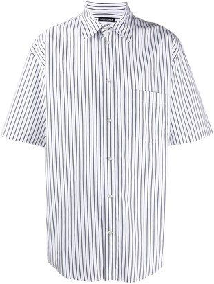 Balenciaga Striped Short Sleeves Shirt