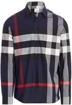 Burberry Simpson Stretch Cotton Check Shirt