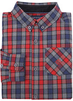 Andy & Evan Childrenswear Long-Sleeve Check Flannel Shirt, Red, Size 2-7