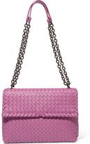 Bottega Veneta Olimpia Medium Intrecciato Leather Shoulder Bag - Magenta