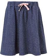 John Lewis Girls' Jersey Spot Print Skirt, Navy
