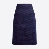 J.Crew Factory Printed pencil skirt in sateen dot