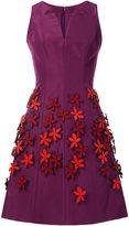 Carolina Herrera floral appliqué dress