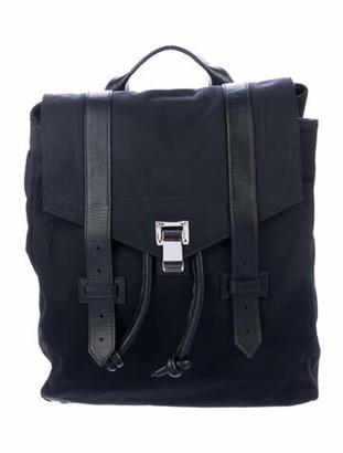 Proenza Schouler Leather-Trimmed Nylon Backpack Black