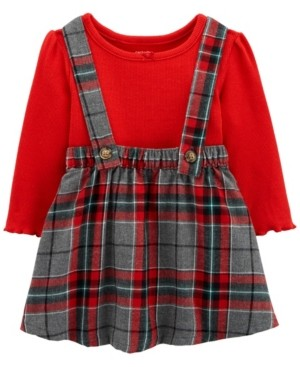 Carter's Baby Girl 2-Piece Holiday Plaid Jumper Set