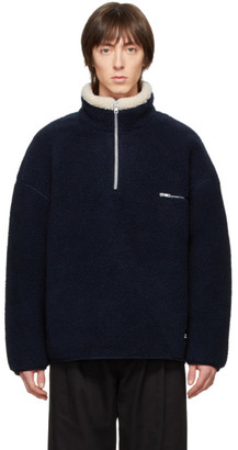 Rassvet Navy Fleece Zip Pullover