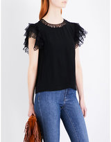 Maje Lucille crepe top