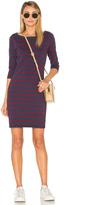 Stateside Wine Stripe Mini Dress