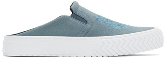 Kenzo Blue Tiger K-Skate Mule Slip-On Sneakers