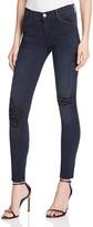 J Brand Mid Rise Skinny Beaded Distressed Jeans in Ultimate - 100% Bloomingdale's Exclusive