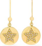 Carolina Bucci Health Lucky 18-karat gold diamond earrings