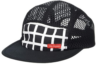 Topo Designs Sport Hat (Black Grid 2) Caps