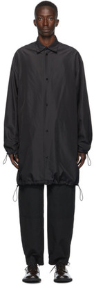 Bottega Veneta Black Technical Oversized Coat