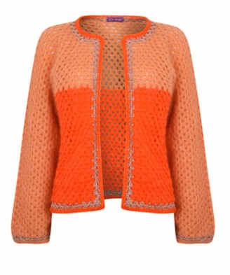 Rose Carmine Mandarin Jacket - One Size