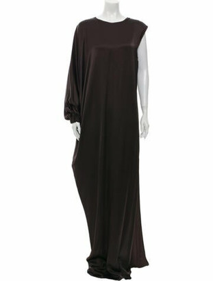 Lanvin Crew Neck Long Dress w/ Tags Brown