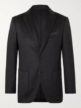 Altea Midnight-Blue Slim-Fit Cashmere Suit Jacket