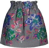 Thumbnail for your product : Ganni High-rise jacquard miniskirt