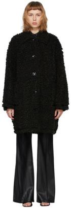 Stand Studio Black Faux-Fur Jacey Coat