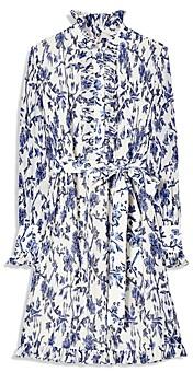Tory Burch Deneuve Floral Print Ruffled Dress