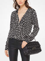 Michael Kors Cheetah Viscose-Blend Cardigan
