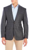 Vince Camuto Charcoal Windowpane Wool Sport Coat