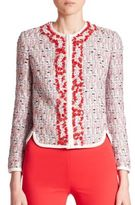 Giambattista Valli Tweed Embroidered Jacket