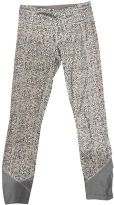 Lululemon Grey Synthetic Trousers