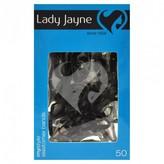 Lady Jayne Elastomer Bands, Black 50 pack