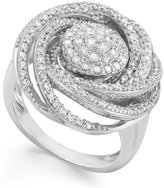 Wrapped in LoveTM Diamond Ring, Sterling Silver Diamond Pave Ring (1 ct. t.w.)
