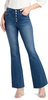 Sam Edelman The Stiletto Raw Hem Flare Jeans