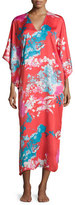 Natori Chianti Floral-Print Lounge Caftan, Women's, Cinnabar
