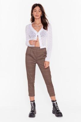 Nasty Gal Womens See Ya at Check-out Cropped Pants - Brown