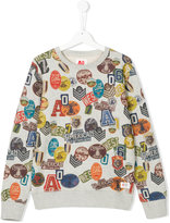 American Outfitters Kids all-over patch print sweatshirt