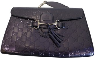 Gucci Emily Purple Patent leather Handbags